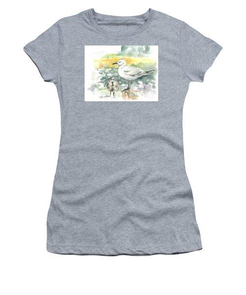 Black-billed Gull Family Women's T-Shirt