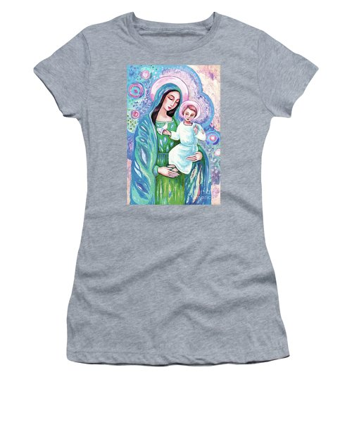 Women's T-Shirt featuring the painting Blessing From Heaven by Eva Campbell