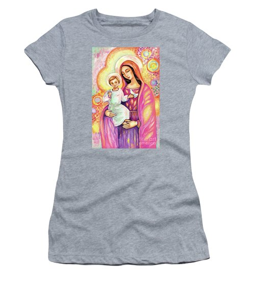 Women's T-Shirt featuring the painting Blessing From Light by Eva Campbell