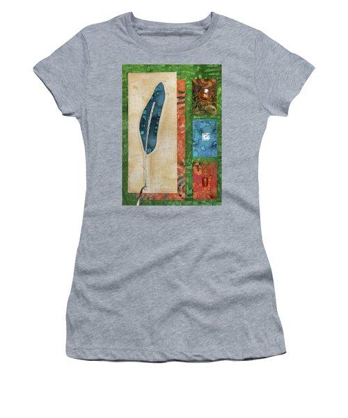 Blue Feather Women's T-Shirt