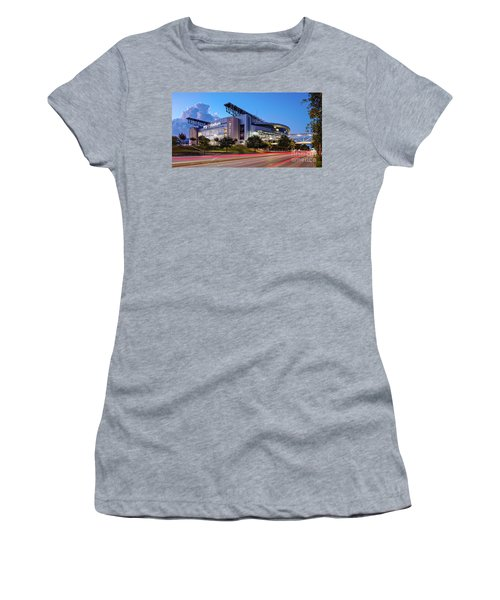 Blue Hour Photograph Of Nrg Stadium - Home Of The Houston Texans - Houston Texas Women's T-Shirt