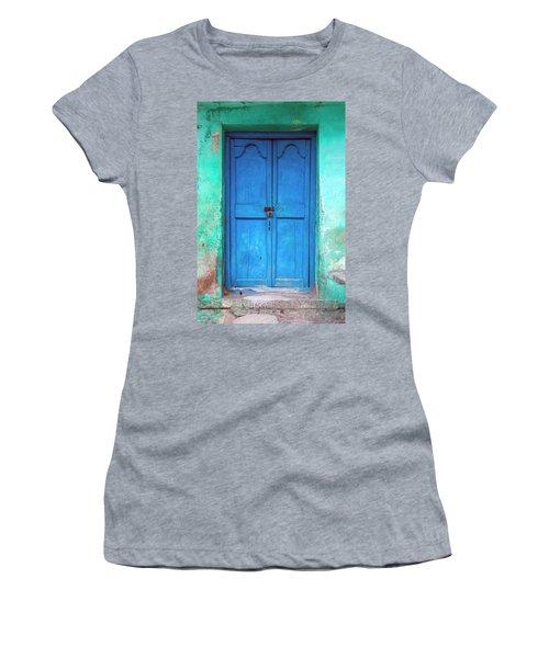 Blue Indian Door Women's T-Shirt