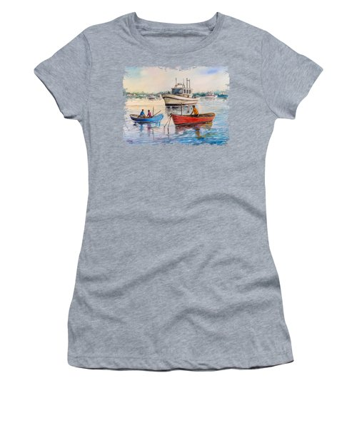 Boats On A Lake Women's T-Shirt
