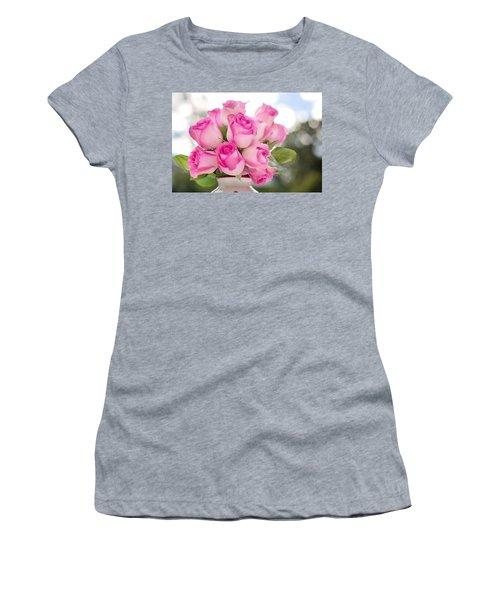 Bouquet Of Pink Roses Women's T-Shirt