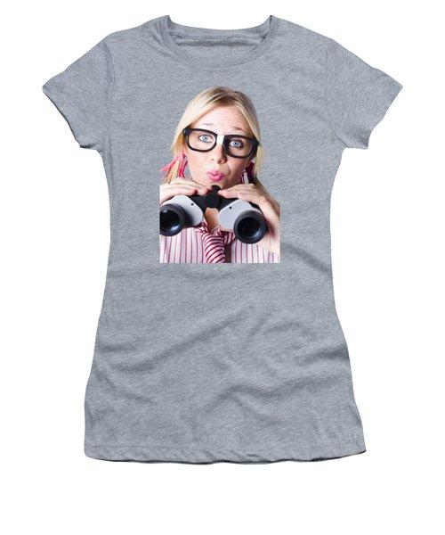 Brainy Businesswoman Looking To Future Development Women's T-Shirt