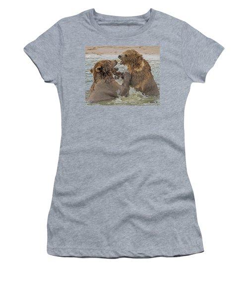 Brown Bears Fighting Women's T-Shirt