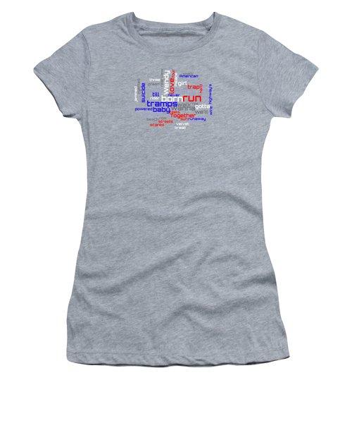 Bruce Springsteen - Born To Run Lyrical Cloud Women's T-Shirt