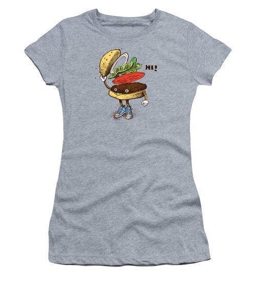 Burger Greeting Women's T-Shirt
