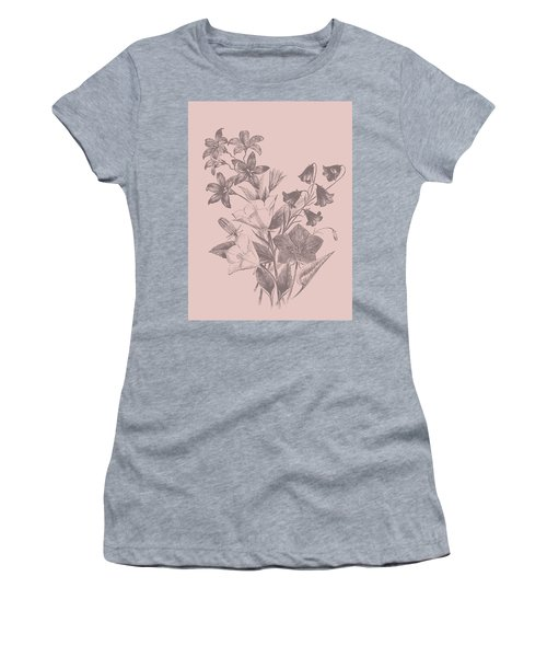 Campanulas Blush Pink Flower Women's T-Shirt