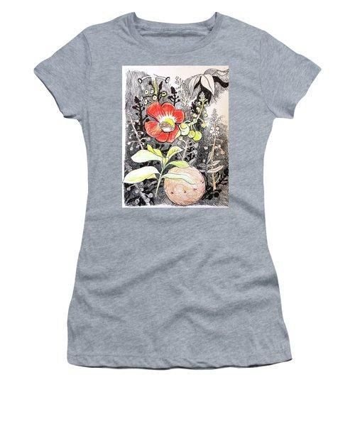 Cannonball Flower Botanical Women's T-Shirt
