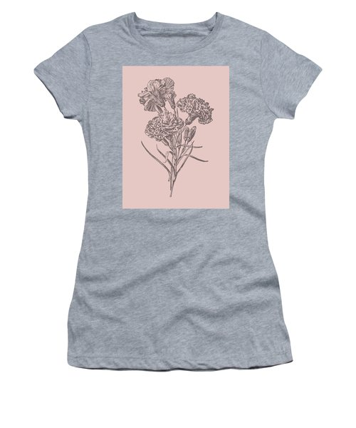Carnations Bush Pink Flower Women's T-Shirt