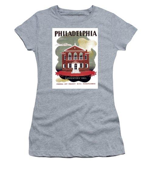 Carpenter Hall - Philadelphia - Remastered Women's T-Shirt