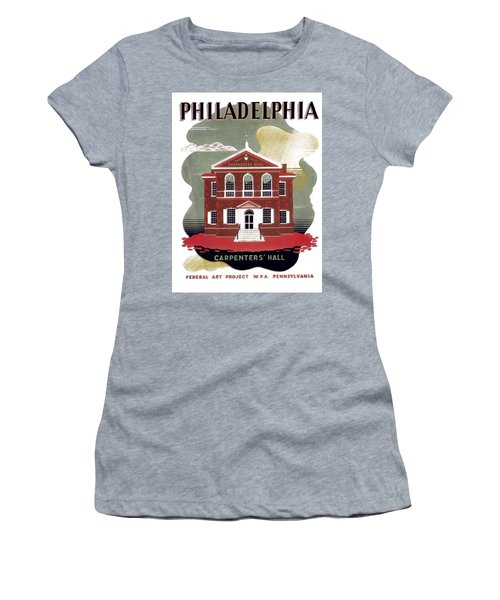 Carpenter Hall - Philadelphia - Remastered Women's T-Shirt