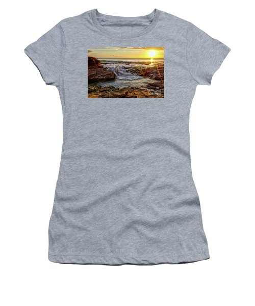 Cascading Sunset At Crystal Cove Women's T-Shirt