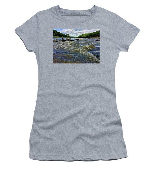 Women's T-Shirt featuring the photograph Cedar River Iowa by Dan Miller