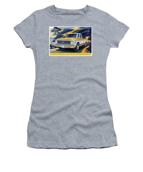 Chevrolet Centennial1971 C10 Cheyenne Fleetside Women's T-Shirt