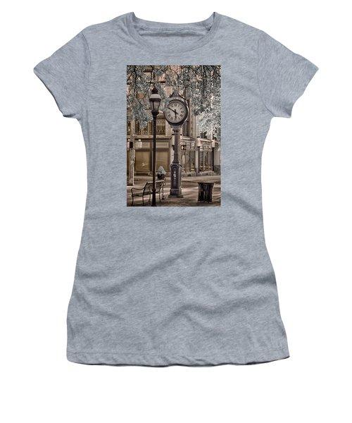 Clock On Street Women's T-Shirt