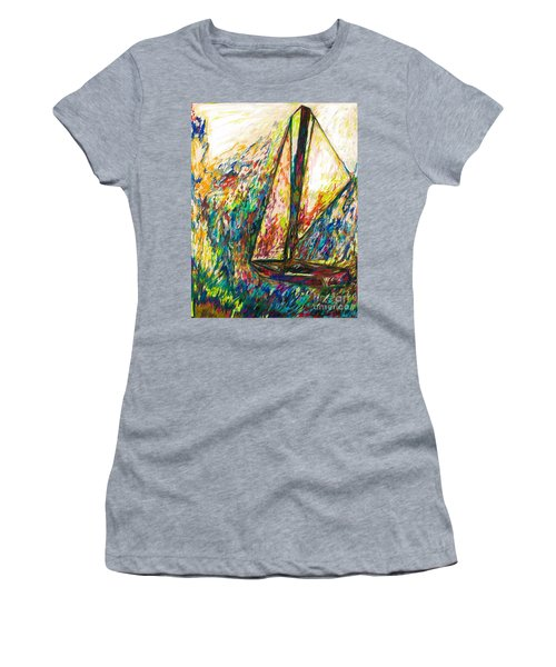 Colorful Day On The Water Women's T-Shirt