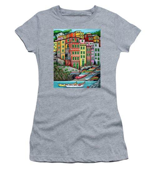 Colours Of Riomaggiore Cinque Terre Women's T-Shirt