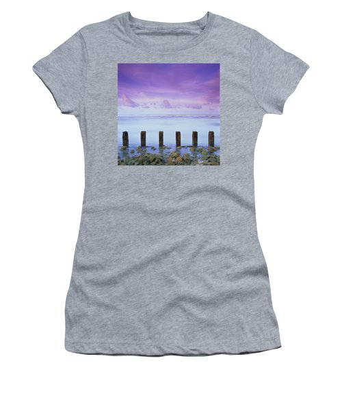 Cotton Candy Skies Over The Sea Women's T-Shirt