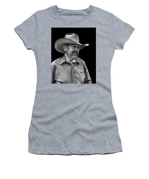 Women's T-Shirt featuring the photograph Cowboy by Jim Mathis
