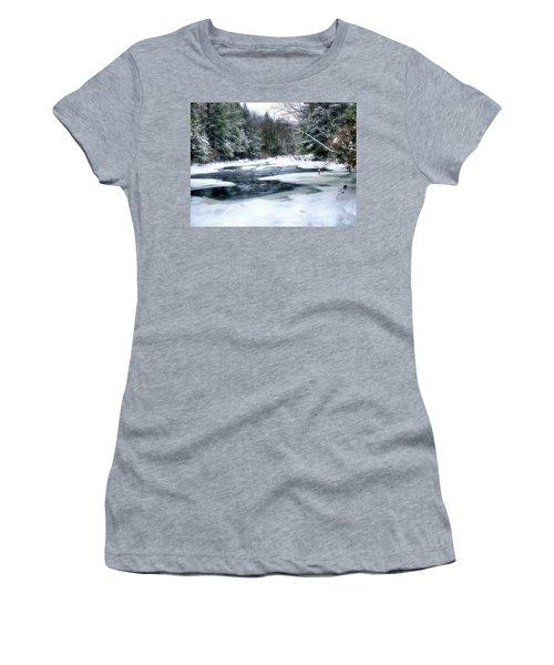 Cucumber Run In Winter Women's T-Shirt
