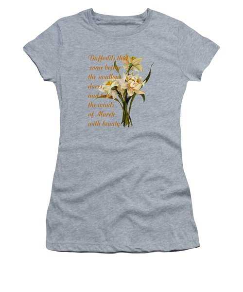 Daffodils That Come Shakespearian Quote Women's T-Shirt