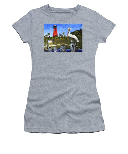 Aceo Dawn At Jupiter Inlet Lighthouse Florida 52a Women's T-Shirt