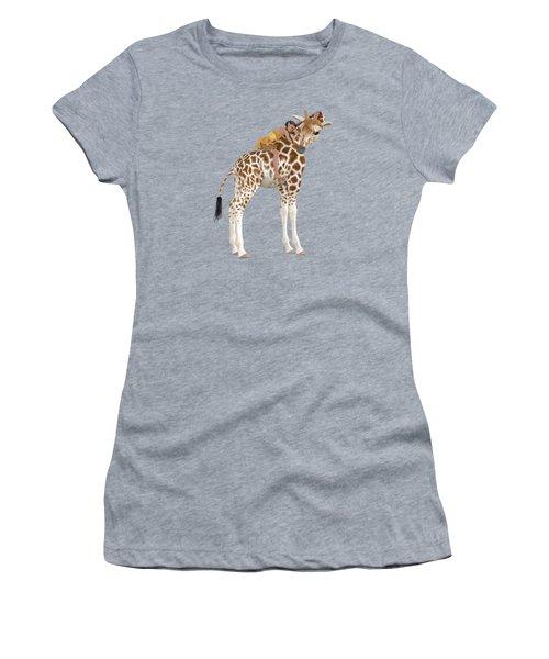 Daydreaming Of Giraffes Png Women's T-Shirt
