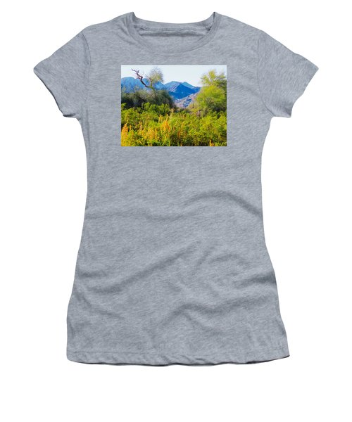 Deep Desert Valley In A Sonoran Desert Spring Women's T-Shirt