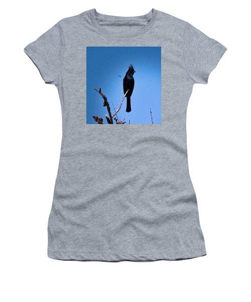 Desert Phainopepla And Dragonfly Women's T-Shirt