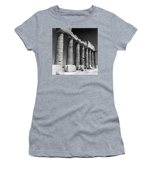 Detail Of The Colonnade Of The Parthenon, Acropolis, Athens Women's T-Shirt