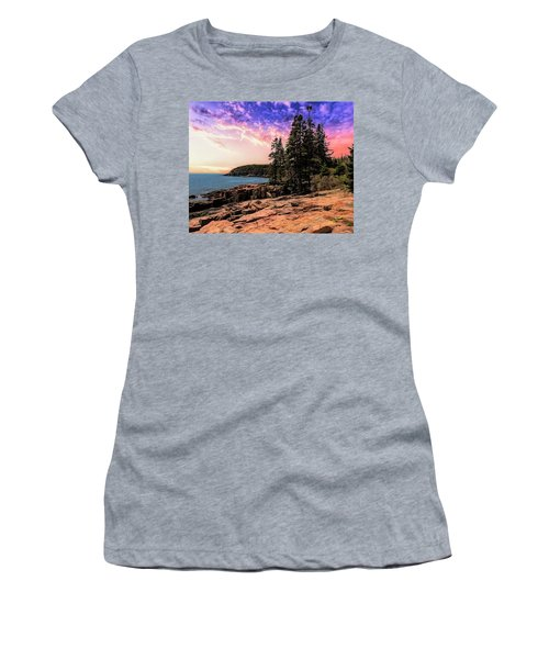Distant View Of Otter Cliffs,acadia National Park,maine. Women's T-Shirt