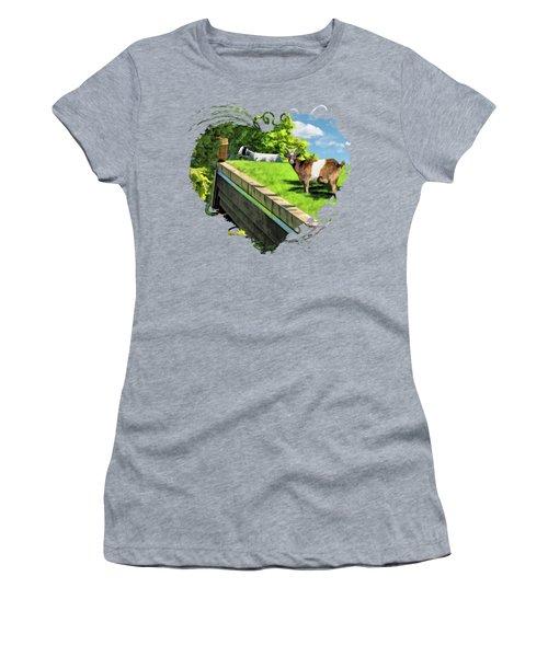 Door County Al Johnsons Swedish Restaurant Goats Women's T-Shirt