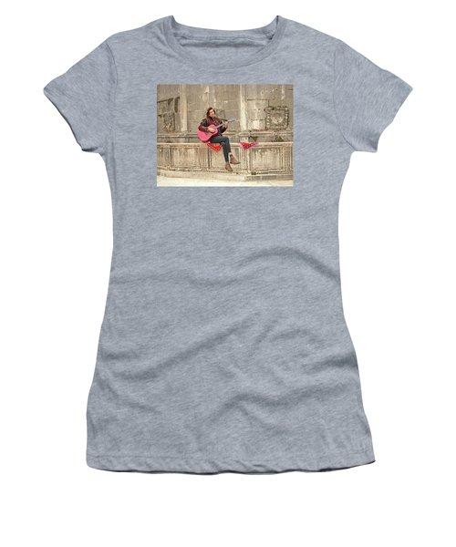 Dubrovnik Street Musician Women's T-Shirt