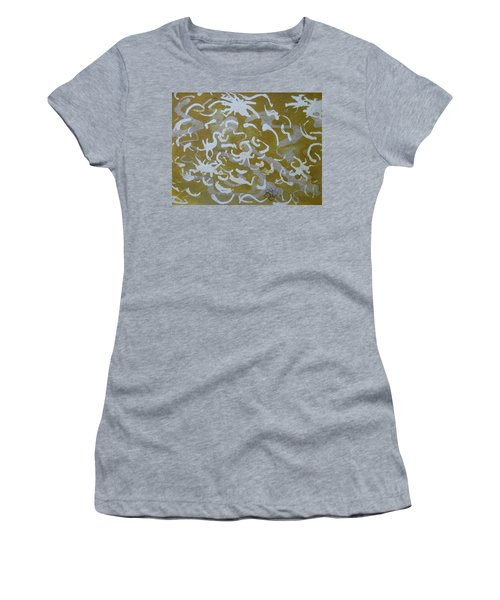 Dull Yellow With Masking Fluid Women's T-Shirt
