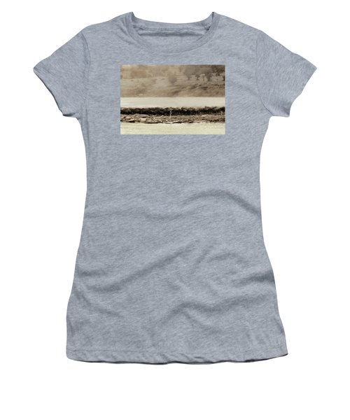 Women's T-Shirt featuring the photograph Dust Of The Migration by Kay Brewer