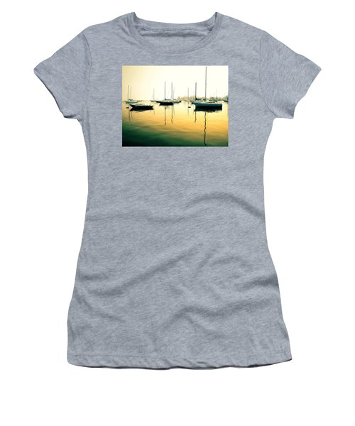 Early Mornings At The Harbour Women's T-Shirt