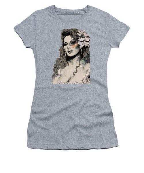 Edwige - Street Art Sexy Portrait Of Edwige Fenech Women's T-Shirt