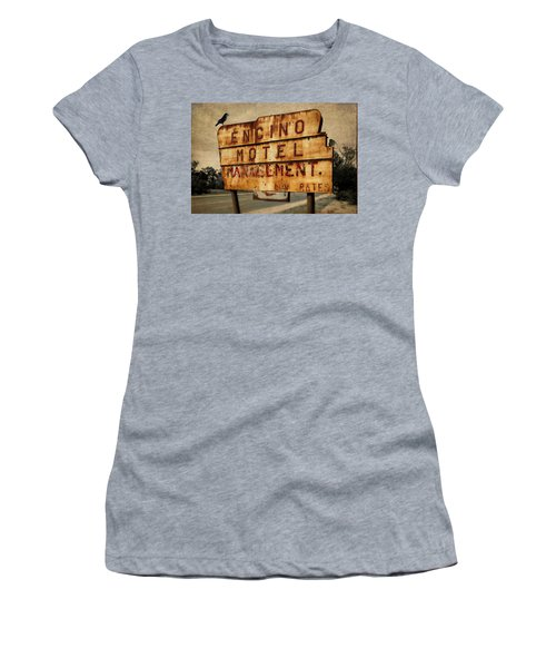 Women's T-Shirt featuring the photograph Encino Hotel by Lou Novick