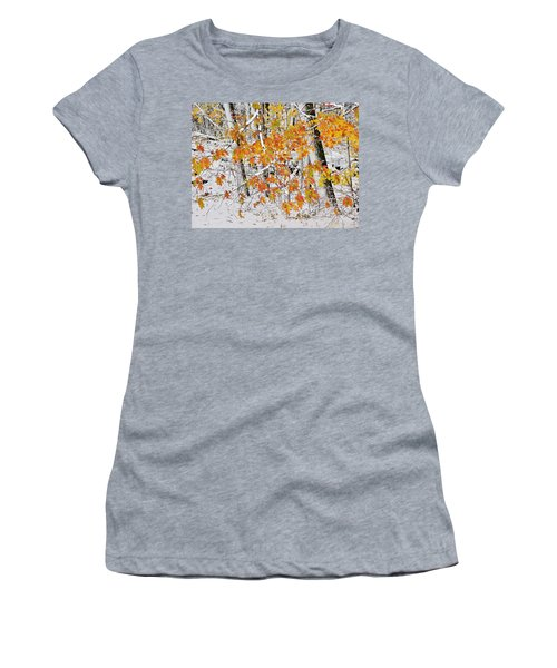 Fall And Snow Women's T-Shirt