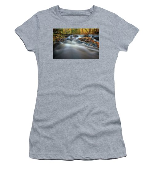 Women's T-Shirt (Athletic Fit) featuring the photograph Fall Morning At Vaughan Brook. by Rick Berk