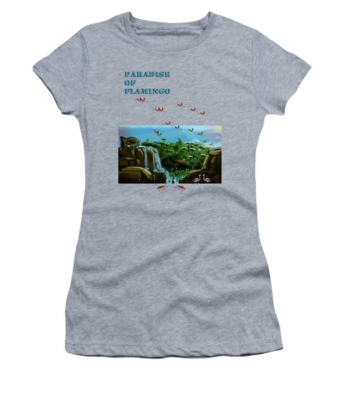 Fish Lake And Flamingo Paradise Women's T-Shirt