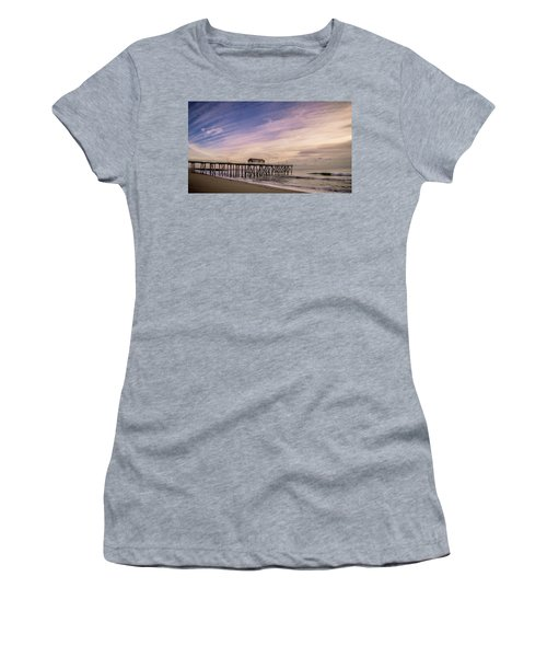Women's T-Shirt featuring the photograph Fishing Pier Sunrise by Steve Stanger