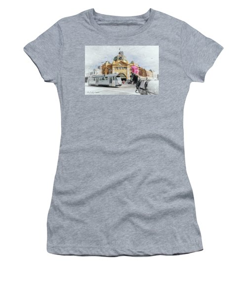Flinders Street Station, Melbourne Women's T-Shirt