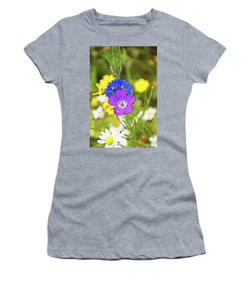 Flowers In The Meadow. Women's T-Shirt