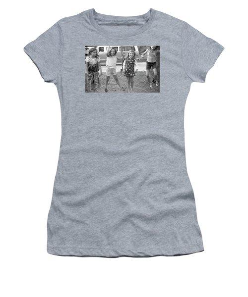 Four Girls, Jumping, 1972 Women's T-Shirt