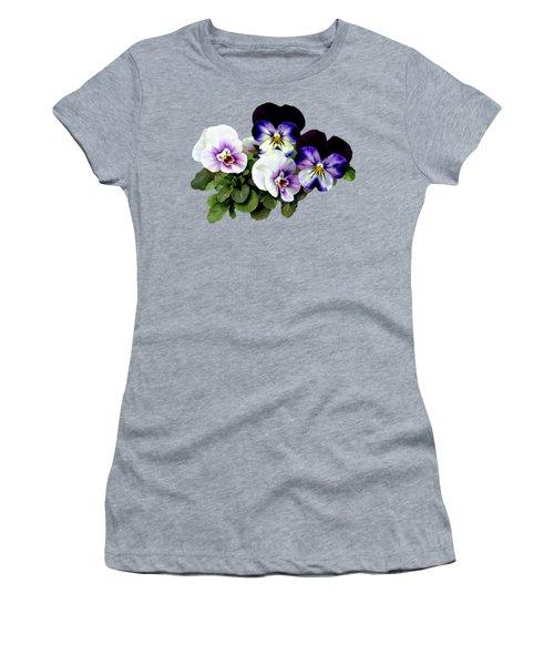 Four Pansies Women's T-Shirt