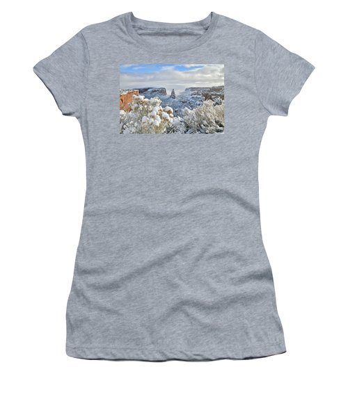 Fresh Snow At Independence Canyon Women's T-Shirt