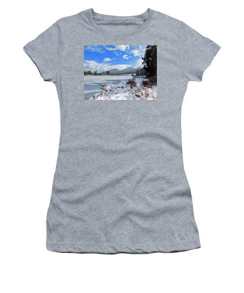 Women's T-Shirt featuring the photograph Frozen Water by Dan Miller